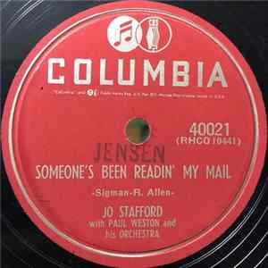 Jo Stafford With Paul Weston & His Orch. - Someone's Been Readin' My Mail / I'm Your Girl Full Album